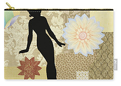 Yellow Paper Doll Carry-all Pouch