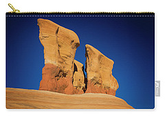 Carry-all Pouch featuring the photograph Yellow Pillars by Edgars Erglis