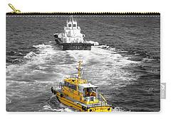Yellow Pilot Yokohama Port Carry-all Pouch by Susan Lafleur