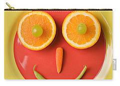 Yellow Plate With Food Face Carry-all Pouch