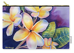 Yellow Plumeria Flowers Carry-all Pouch