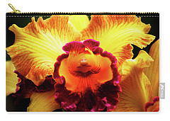Carry-all Pouch featuring the photograph Yellow-purple Orchid by Anthony Jones