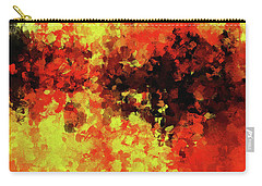 Carry-all Pouch featuring the painting Yellow, Red And Black by Ayse Deniz