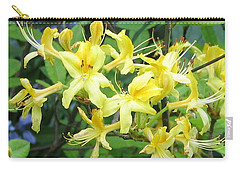 Carry-all Pouch featuring the photograph Yellow Rhododendron by Carla Parris