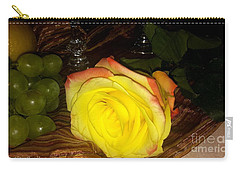 Yellow Rose And Grapes Carry-all Pouch