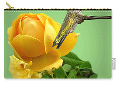 Yellow Rose And Hummingbird 2 Carry-all Pouch