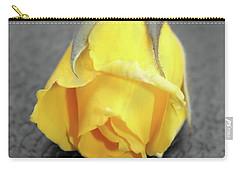Yellow Rose Carry-all Pouch by Angel Jesus De la Fuente