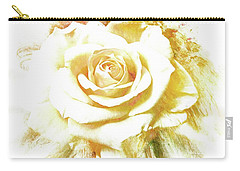 Carry-all Pouch featuring the photograph yellow Rose by Athala Carole Bruckner