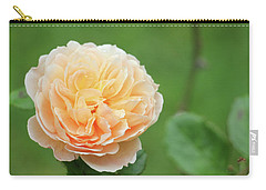 Yellow Rose In December Carry-all Pouch by Kelly Hazel