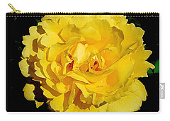 Yellow Rose Kissed By The Rain Carry-all Pouch