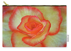 Yellow Rose With Red Tips Carry-all Pouch