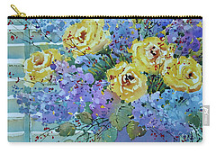 Yellow Roses And Lilacs Carry-all Pouch