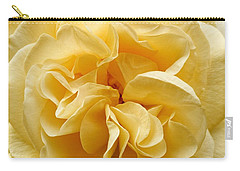 Yellow Ruffles - Rose Carry-all Pouch