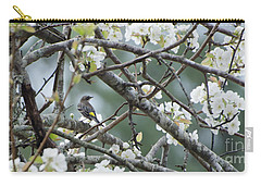 Yellow-rumped Warbler In Pear Tree Carry-all Pouch