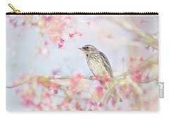 Yellow-rumped Warbler In Spring Blossoms Carry-all Pouch