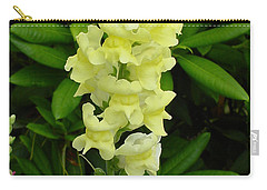 Yellow Snapdragon Carry-all Pouch by Shirley Heyn