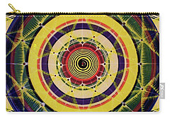 Carry-all Pouch featuring the painting Yellow Spiral by Kym Nicolas
