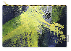 Carry-all Pouch featuring the painting Yellow Splash by Nancy Merkle