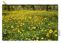 Yellow Spring Carpet Carry-all Pouch by Henryk Gorecki