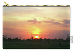 Yellow Sunset At Park Carry-all Pouch