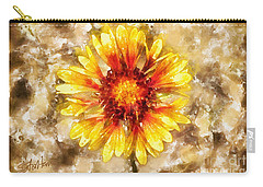 Yellow Sunshine Carry-all Pouch by Shirley Stalter
