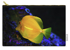 Carry-all Pouch featuring the photograph Yellow Tang by Anthony Jones