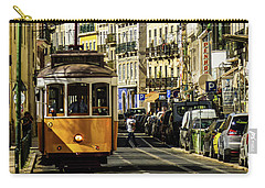 Yellow Tram In Downtown Lisbon, Portugal Carry-all Pouch