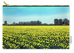 Yellow Tulip Fields Carry-all Pouch by David Patterson
