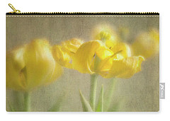 Yellow Tulips Carry-all Pouch by Elena Nosyreva
