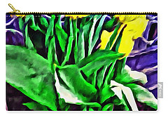 Carry-all Pouch featuring the painting Yellow Tulips by Joan Reese