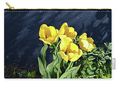Carry-all Pouch featuring the photograph Yellow Tulips by Kathleen Stephens