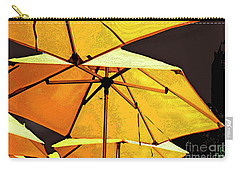 Yellow Umbrellas Carry-all Pouch by Deborah Nakano