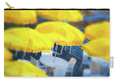 Yellow Umbrellas Carry-all Pouch