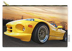 Yellow Viper Rt10 Carry-all Pouch by Gill Billington