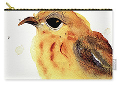 Carry-all Pouch featuring the painting Yellow Warbler by Dawn Derman
