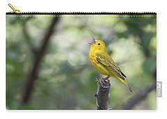 Yellow Warbler In Song Carry-all Pouch