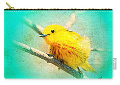 Carry-all Pouch featuring the photograph Yellow Warbler by John Wills