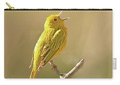 Yellow Warbler Song Carry-all Pouch by Alan Lenk