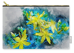 Yellow Wildflower Carry-all Pouch