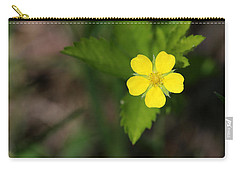 Carry-all Pouch featuring the photograph Yellow Wildflower by Mary Bedy