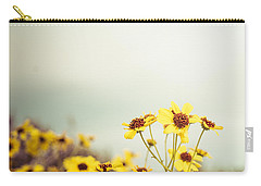 Yellow Wildflowers Carry-all Pouch by Mary Hone