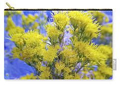 Yellow Yazzle Rabbit Brush By Lisa Kaiser Carry-all Pouch