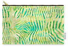 Yellow Zebra Print Carry-all Pouch