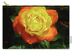 Yellow Red Rose Flower. Carry-all Pouch