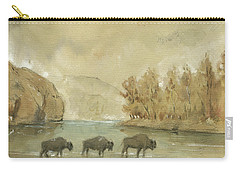 Yellowstone And Bisons Carry-all Pouch