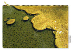 Yellowstone Art. Yellow And Green Carry-all Pouch