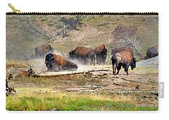 Yellowstone Buffalo- Fine Art Photograph Carry-all Pouch