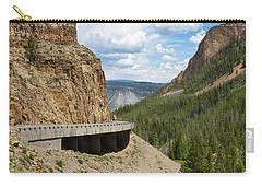 Carry-all Pouch featuring the photograph Yellowstone Drive by John M Bailey