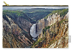 Yellowstone Falls Seen From Artist Point Carry-all Pouch by Kai Saarto