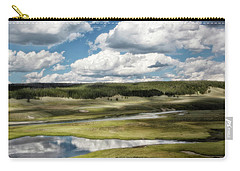 Yellowstone Hayden Valley National Park Wall Decor Carry-all Pouch